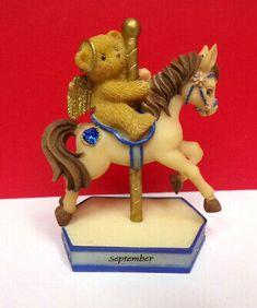 Miniature Cherished Teddies SEPTEMBER Monthly Carousel Horse Mini Figurine | eBay Carousel Horses, September, Miniatures, Christmas Ornaments, Holiday Decor, Ebay, Christmas Jewelry, Christmas Decorations, Minis