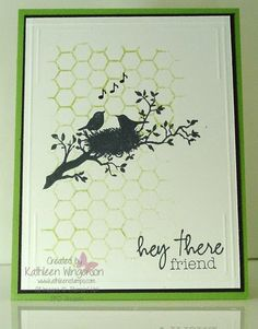 Friendship card made with the World of Dreams stamp set from Stampin' Up! by Kathleen Wingerson   www.kathleenstamps.com