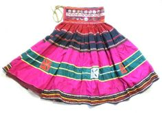 Love this Colorfull  Banjara skirts, authentic tribal wear, Rajasthan, India