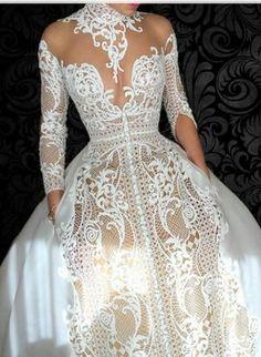 Dream Wedding Dresses, Bridal Dresses, Wedding Gowns, Prom Dresses, Moda Medieval, J Aton Couture, Long Sleeve Wedding, Beautiful Gowns, Beautiful Bride
