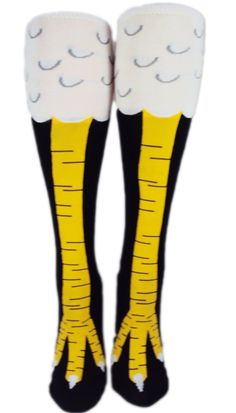 Wow! Cool! Thigh high chicken-leg socks! Doesn't EVRYONE need these? - Ginn, Crazy Chicken Lady in SC
