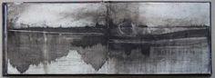 L'ivre....Livre de peinture : I'm searching 2, page 11 /Juste du noir de fumée / Just black smoke Elisabeth Couloigner.