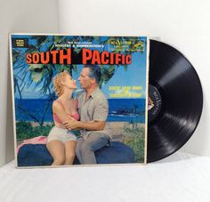 South Pacific Soundtrack vintage vinyl record LP album    50's Musical    Rodgers & Hammerstein