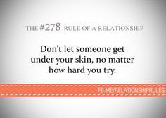 The #278 Rule of a Relationship