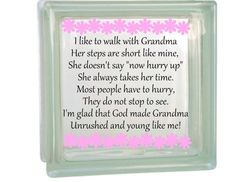 I like to Walk with Grandma Poem decal for by PersonalizedbyDawn