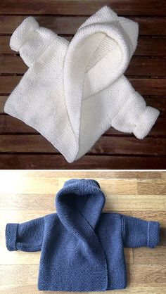 Baby Hooded Wrap Cardigan - Knitting Pattern - knitting is as easy as . Baby Hooded Wrap Cardigan – Knitting Pattern – Knitting is as easy as 3 Knitting boils do Baby Knitting Patterns, Knitting Stitches, Baby Patterns, Free Knitting, Crochet Patterns, Baby Cardigan Knitting Pattern Free, Crochet Cardigan, Knit Crochet, Crochet Hats