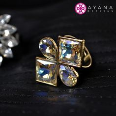 The Erica ring by #AyanaDesigns adds the perfect pop of color to any outfit! #rainbow #jewels #bling #fashion #trends #fallfashion #whattowear #ring #trendy