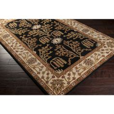RugStudio presents Surya Bungalo BNG-5012 Coal Black Hand-Tufted, Good Quality Area Rug