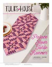 Palace Floor Table Runner Digital Pattern from QuiltandSewShop.com