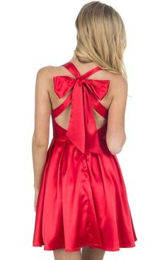 Holiday Red - The Livingston Holiday 2015 Dress - Back