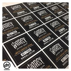 Limited Numbered Stickers from HALL XIS AGENCY for Worst Band Album  #designdmarca #hellxisagency #worsthcsp #tags #edicalimited #albun #music #bandas #editoras #impressao #vinil #albumcover #etiquetas