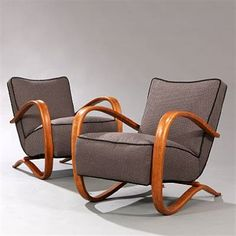 Pair of Easy Chairs (model H-269) by Jindrich Halabala