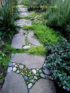 60 Front Yard Garden Path & Walkway Landscaping Ideas - Page 3 of 60 - Home Decor Ideas Unique Gardens, Amazing Gardens, Beautiful Gardens, Side Yard Landscaping, Farmhouse Landscaping, Landscaping Ideas, Shade Landscaping, Garden Edging, Garden Paths