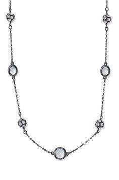 """Hand-set pave balls alternate with crystal chanel set stones on this black hematite chain. Approximately 38"""" length. Lobster clasp closure. Lead & nickel safe. stelladot.com/Tampa"""