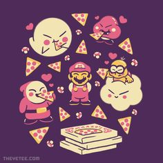 Pizza Party By Minilla, today at The Yetee!