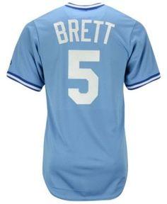 Majestic George Brett Kansas City Royals Cooperstown Replica Jersey - Blue XL