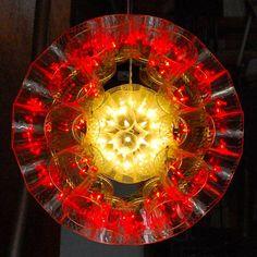 #sparkleball creation by Carl Boro    #bicchieridiplastica #kugellampe #bouleàfacettes