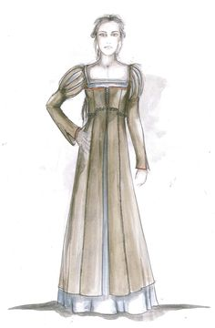 Snow White costume sketch from Snow White and the Huntsman