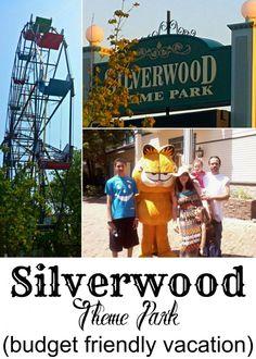 Silverwood theme park- in Idaho. A budget friendly family vacation!