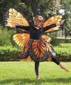 monarch butterfly girls costume