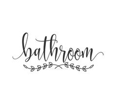 Bathroom decal make your own sign door decal bath door