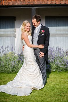 Ian Stuart Bridal Gown for a Rustic Wedding in a Barn in Suffolk with Hand Sewn…