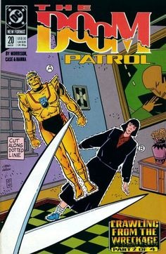 The cover to Doom Patrol #20 (1989), art by Richard Case & Carlos Garzon