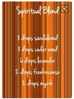 ☆spiritual blend I cut it in half and added to a 5/8 dram and then added 6 drops to diffuser