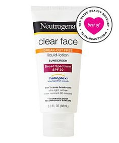 Best Sunscreen for Your Face No. 6: Neutrogena Clear Face Liquid Lotion Sunblock, $11.49