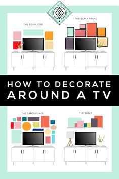 In which we look at how to decorate around a TV — it can be awkward, but these four ideas will make you look like a pro by taking the guesswork out. Decor Around Tv, Decorating Around Tv, Over Tv Decor, Mantle Decorating, Tv Wanddekor, Bedroom Tv Wall, Bedroom With Tv, Tv Wall Decor, Decoration Inspiration