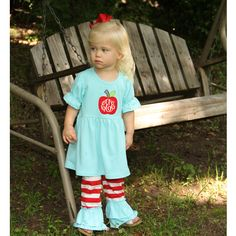 Monogrammed Back To School Outfit