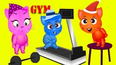 Cats Finger Family Goes to Gym Nursery Rhyme for Kids   Finger Family Songs Collection