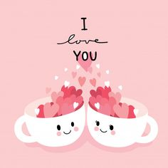 Cartoon cute valentines day couple cats and heart vector. Valentines Day Drawing, Valentines Day Couple, Valentines Day Greetings, Happy Valentines Day, Heart Vector, Happy Day Quotes, Cute Puns, Love You Images, Valentine's Day Greeting Cards