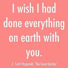 F. Scott Fitzgerald quote 'The Great Gatsby'
