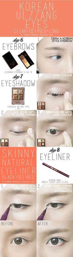 How To: Koreanisches Ulzzang / Uljjang Make Up (Fort Aegyo Sal) - Elektra Z. Nerd Makeup, Makeup List, Makeup Haul, Beauty Makeup, Eyebrow Makeup, Makeup Eyeshadow, Eyebrow Wax, Makeup Eyebrows, Eyeshadows