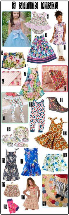 KidStyleFile Roundup : A Spring Posey – Floral Fashion Inspiration