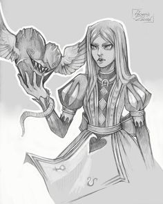 Alice sketch by Phoenix-zhuzh.deviantart.com on @DeviantArt