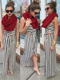 stripe maxi dress #swoonboutique