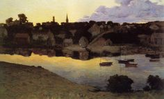 Arthur Wesley Dow - Sunset Over Town
