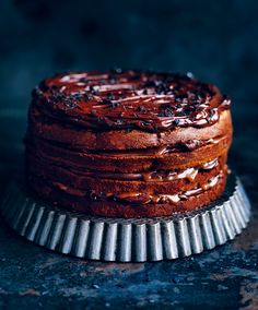 Chocolate fudge and salted caramel layer cake from Basics to Brilliance by Donna Hay Ultimate Chocolate Cake, Chocolate Fudge Cake, Chocolate Recipes, Baking Recipes, Cake Recipes, Dessert Recipes, Macarons, Food And Travel Magazine, Chocolate Delight