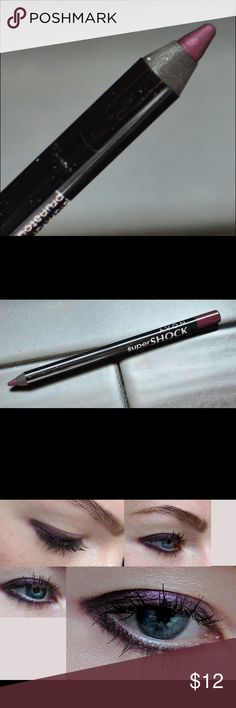 Gel Eyeliner - Plumful Super Shock Gel Eyeliner offers intense color. Easy to apply; glides on. Easy to blend and long wearing!  This plum shade is so pretty with just the right amount of sheen and shimmer. Avon Makeup Eyeliner