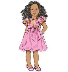 B6161, Children's/Girls' Dress
