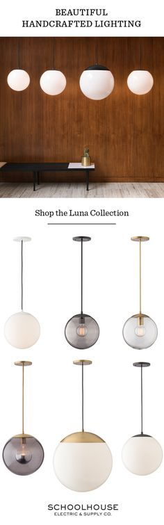 Beautiful, handcrafted lighting. Shop the Luna Collection today!