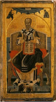 The icon of St. Religious Images, Religious Icons, Religious Art, Byzantine Icons, Byzantine Art, St Nicholas Day, Russian Icons, Religious Paintings, Catholic Saints
