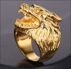 Gorgeous Stainless Steel Badass Wolf Ring! check out the designed details…