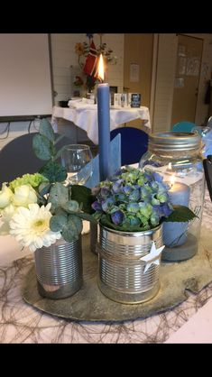 Rustic Chic, Chic Wedding, Table Decorations, Inspiration, Home Decor, Candles, Blue Prints, Creative, Biblical Inspiration