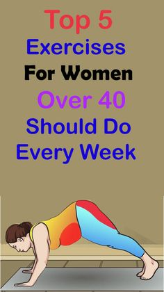 Top 5 Exercises For Women Over 40 Should Do Every WeekGyms are expensive. But who needs 'em? These workouts help you get fit for less. Weight Exercises, Body Exercises, Fitness Exercises, At Home Workout Plan, At Home Workouts, Belly Fat Workout, Workout Abs, Gym Fitness, Pole Fitness