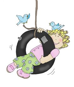 Tire Swing Girl - Colour