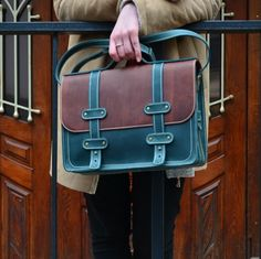 """Leather Briefcase, Leather Briefcase Women, Womens Leather Briefcase, Leather Satchel, Womens Laptop bag, Womens Business bag, 13"""" Laptop by Babak1995 on Etsy https://www.etsy.com/listing/294035529/leather-briefcase-leather-briefcase"""
