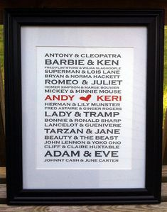 Wedding Present For Brother And Sister In Law : ... Gift Ideas on Pinterest Wedding gifts, Anniversary gifts and Gift